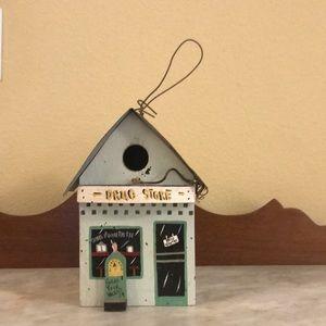 Handmade Birdhouse(Drug Store)-Signed On The Back